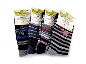 Chlapecké bavlněné ponožky, proužkované