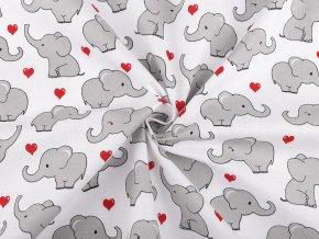 Bavlněná látka slon
