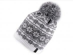 Zimní čepice s norským vzorem
