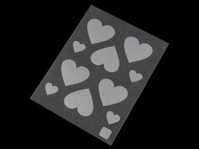 Reflexní nažehlovačky srdce, hvězda, dinosaurus, jednorožec,plameňák, kočka, liška, auto 9,5x12,5 cm