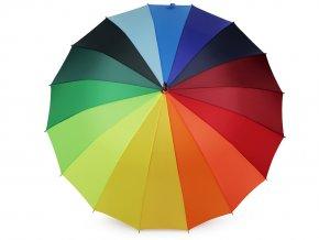 Dámský vystřelovací deštník duha