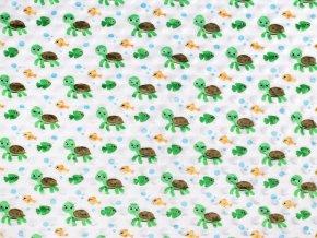 Minky s 3D puntíky želva