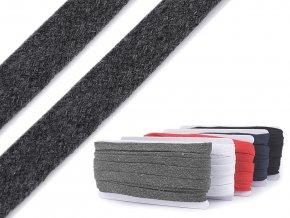 Oděvní šňůra plochá / dutinka šíře 11-15 mm