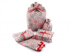 Vánoční látková sada k balení dárků