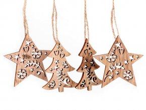 Vánoční dřevěná hvězda, stromeček