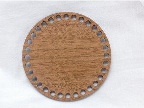 Dřevěný výřez kruh 15 cm ořech