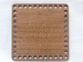Dřevěný výřez  čtverec 15 cm ořech