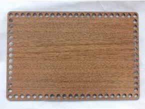 Dřevěný výřez obdélník 20x30 cm ořech