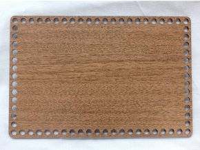 Dřevěný výřez obdélník 30x40 cm ořech