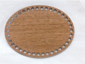 Dřevěný výřez ovál 15x20 cm ořech