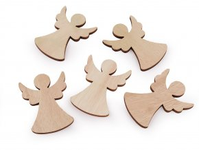 Dřevěný anděl k nalepení / domalování