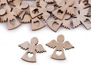 Samolepicí dřevěný anděl