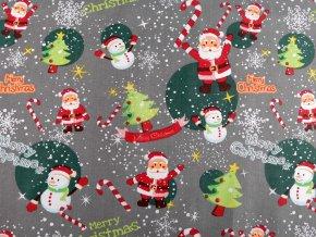 Vánoční bavlněná látka