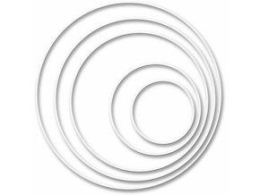 Kruh na lapač snů 10 cm bílý