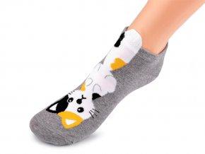 Dětské ponožky kotníkové kočka, pes, mýval