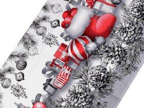 Bavlněné vaflové piké vánoční