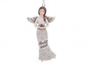 Dekorace anděl k zavěšení s nápisem