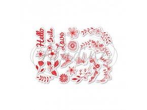 razitka na textil kvetinovy venec (1)