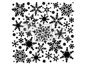 sablona 6 x6 snowflakes mini