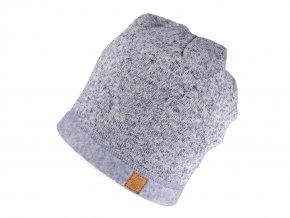 Čepice ze zateplené svetroviny