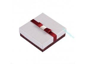 Dárková krabička červeno- bílá