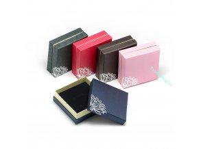 Dárková krabička s ornamentem tm. šedá