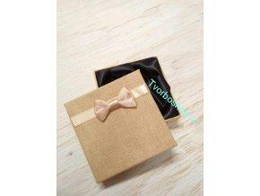 Dárková krabička s mašlí béžová