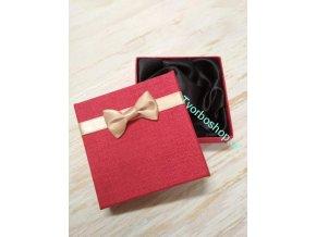 Dárková krabička s mašlí červená
