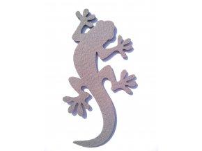 Výsek z filcu ještěrka šedá