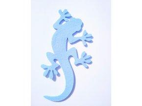 Výsek z filcu ještěrka sv.modrá