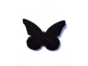 Výsek z filcu motýl černý