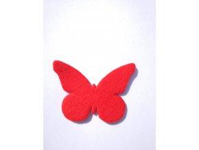 Výsek z filcu motýl červený