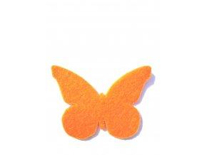 Výsek z filcu motýl oranžový