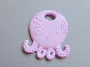 Silikonová chobotnice světle fialová