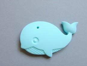 Silikonová velryba sv. modrá
