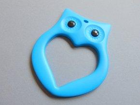 Silikonová sova modrá