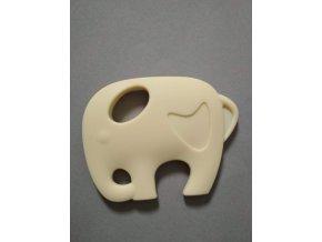 Silikonový slon béžový