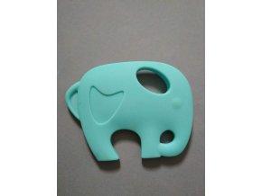 Silikonový slon stř.modrý