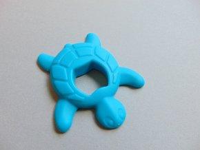 Silikonová želva modrá