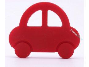 Silikonové auto červené