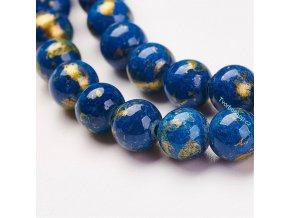 Jadeit modrozlatý 6 mm
