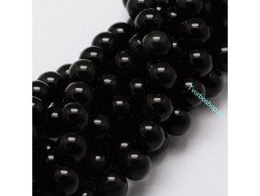 Obsidián černý 8 mm