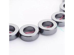 Syntetický hematit kroužek černý