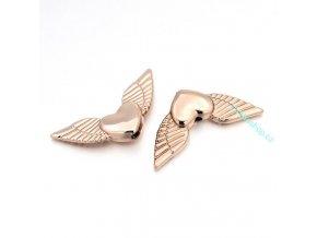 Přívěsek andělské srdce růžové zlato s křídly 1 ks- limitovaná edice