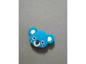 Silikonový korálek koala malá modrá