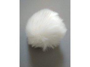 Bambule 8 cm bílá