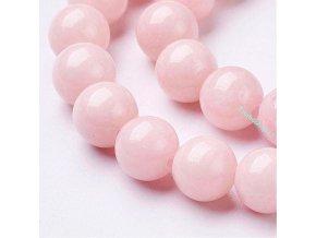 Jadeit světle růžový 8 mm