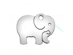 Přívěsek slon chir. ocel 1 ks