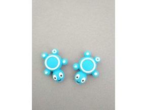 Silikonový korálek želvička malá modrá