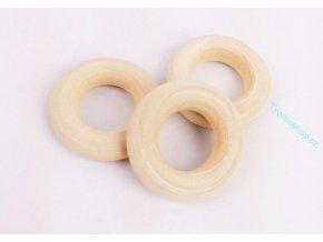 Dřevěný kroužek 25 mm